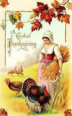 postcard.quenalbertini: Vintage Thanksgiving Card---THANK YOU FOR ALL THE INSPIRING PINS AND FOLLOWERS - WISHING YOU A WONDERFUL THANKSGIVING !