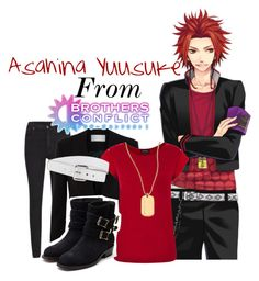 """Asahina Yuusuke from Brothers Conflict!"" by drinkdionysus ❤ liked on Polyvore featuring Cheap Monday, BOSS Hugo Boss, Warehouse, Michael Kors, Rupert Sanderson and Trina Turk LA"