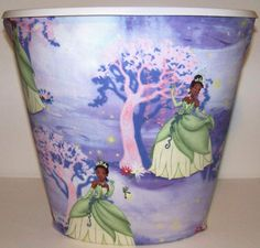 Princess Tiana The Frog Prince Wastebasket Trash Can