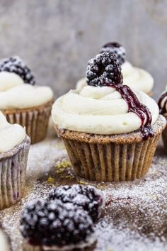 Blackberry Bourbon Cupcakes | The Best Healthy Recipes