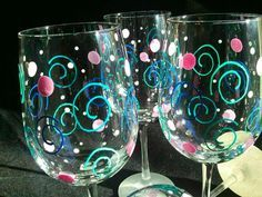 My Glass, Glass Art, Ceramic Painting, Dot Painting, Diy Glasses, Clear Glass Ornaments, Wine Glass Crafts, Hand Painted Wine Glasses, Glass Ceramic