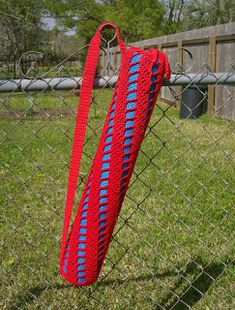 365 Crochet: Spiral Ladder Yoga Bag Free Crochet Pattern