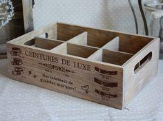 Skrzynka drewno rustique 6 przegródek Galeria Mercantino