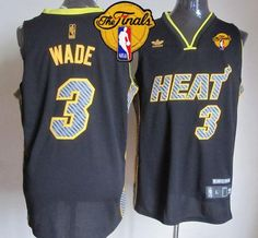 c98ef0eaa3d5 Heat  3 Dwyane Wade Black Electricity Fashion Finals Patch Stitched NBA  Jersey Lebron James Black