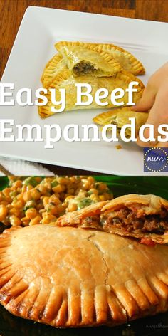 Ground Beef Recipes Discover Easy Beef Empanadas VIDEO These Easy Beef Empanadas are delicious and use pre-made pie crust for their base. Packed full of great flavor and simple to toss together they are a worthy Cinco de Mayo meal! Comida Latina, Tasty, Yummy Food, Mexican Dishes, Easy Mexican Food Recipes, Mexican Pie, Mexican Easy, Mexican Snacks, Mexican Appetizers