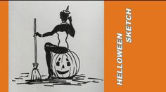 Helloweensketch skisser ideas, drawing ideas, draw, videos, draw art, draw and sketches, tegning, sketghes, videos, youtube, helloween www.maleriarenaer.com