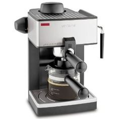 Mr. Coffee Espresso Machine. $34.99 For Starbucks at home, use this affordable machine. It's the perfect size for delicious coffee drinks in my dorm.