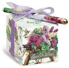 Lilacs Note Block - Roses And Teacups