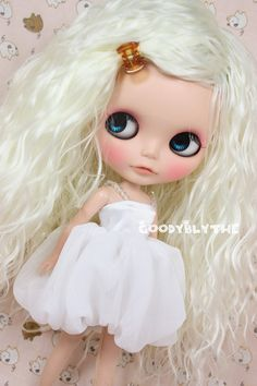 12 Goodyblythe Hair Wig for Blythe White Curly by blythism on Etsy, $16,99