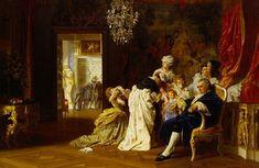 Louis XVI et Marie Antoinette avec leur enfants à Versailles le 6 octobre 1789, par Gyula Benczur