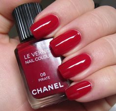 """""""Pirate is a stunning deep raspberry, blue toned red jelly. This polish is so incredibly shiny that I wasn't able to make any pics without crazy glare."""""""