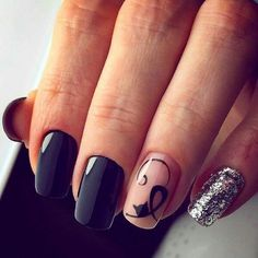 Nail art photo 2018 Source by Cat Nail Art, Animal Nail Art, Cat Nails, Nail Art Photos, Cute Acrylic Nails, Nagel Gel, Stylish Nails, Flower Nails, Nail Arts