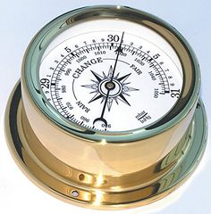 Trintec Euro Aneroid Barometer Polished Brass Marine Nautical Instrument for Boat or Cabin >>> Click image for more details. (This is an affiliate link and I receive a commission for the sales)