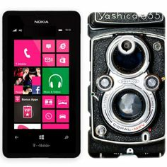 Amazon.com: Nokia Lumia 521 Vintage Old Yashica Camera 635 Phone Case Cover: Cell Phones & Accessories