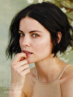 Jaimie Alexander without makeup for People Magazine