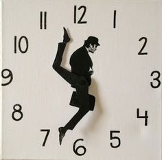 DIY Silly Walk Clock - You can't buy this (yet!), but here are instructions for making it. Love it!