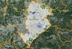 Imagem de satélite mostra o que sobrou de florestas em Belo Horizonte, em verde (Foto: MapBiomas)