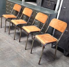 French Industrial Vintage Factory Chairs, $375