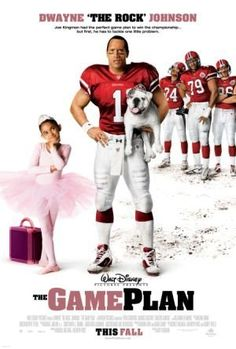 The Game Plan (2007)  An NFL quarterback living the bachelor lifestyle discovers that he has an 8-yr-old daughter from a previous relationship.  Dwayne Johnson, Kyra Sedgwick, Madison Pettis
