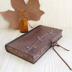 Brown leather journal with edge decoration, by TeoStudio | Flickr - Photo Sharing!