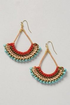 Crochet Jewelry Inspiration - Nunn Design - Crochet Earrings from Anthropology. Informations About Crochet Jewelry Inspiration – Nunn Design P - Crochet Earrings Pattern, Bead Crochet, Diy Crochet, Crochet Necklace, Crochet Patterns, Crochet Rope, Diy Jewelry Rings, Macrame Jewelry, Handmade Jewelry