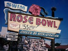 Rose Bowl Motel sign, formerly at 2645 East Van Buren