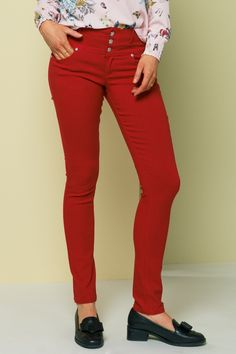 Bukse Jenny Red fra Floyd by Smith Spandex, Red, Pants, Fashion, Trousers, Moda, Fashion Styles, Women Pants, Fasion