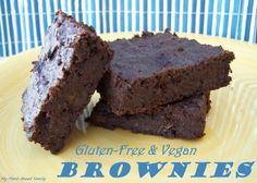 Gluten-free and Vegan Brownies that are life changing.