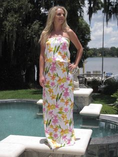 Tropical Maxi Dress  Size 0/2 by AnniesApparel on Etsy, $25.00