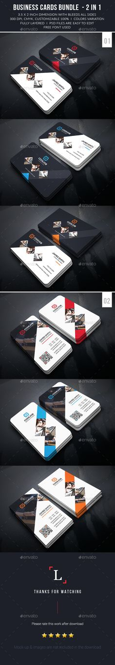 Corporate Business Cards Bundle Templates PSD #design Download: http://graphicriver.net/item/corporate-business-cards-bundle/13568052?ref=ksioks