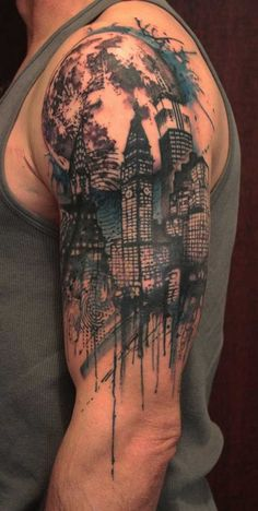 New York Tattoo Designs for Men Half Sleeve
