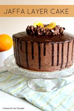 Jaffa Layer Cake Recipe