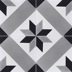Carreaux de ciment - Les motifs - Carreau T41 07.01.27 - Couleurs & Matières