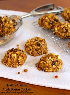 Healthy Oatmeal Apple Raisin Cookies at http://therecipecritic.com  Delicious and healthy cookies that the entire family will love!