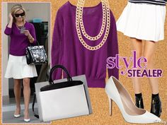 Style Stealer: Reese Witherspoon Is Pretty In Purple