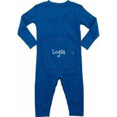 Personalized Infant Name Long John, Royal Blue, Infant Boy's, Size: 24 Months