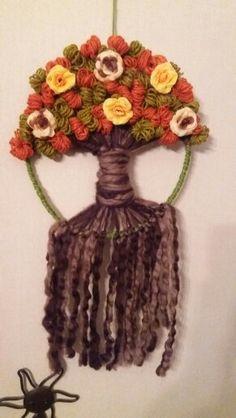Circular Weaving, Peg Loom, Weaving Art, Crochet For Beginners, Fiber Art, Dream Catcher, Decoupage, Decoration, Tapestry