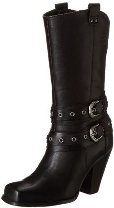 Harley-Davidson Women's Aubrey Motorcycle Boot None Baskets, Harley Davidson Boots, Fashion Boots, Biker Fashion, Biker Chick, Biker Style, Motorcycle Boots, Black Boots, Shoe Boots