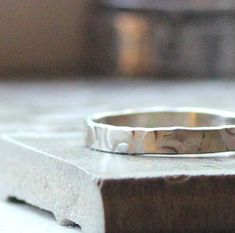 Gorgeous and subtle rustic wedding band  14k White Gold  by our sponsor, tinahdee @Tina Gasperson