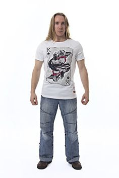 Official Street Fighter Ken Of Clubs T-Shirt  You won't need a club when you get this T-shirt, you'll already be the ultimate Street Fighter! Ok, ok, so this official Capcom Ken of Clubs T-shirt won't turn you into the next Bruce Lee, but it will make you look cool as hell while you're playing Street Fighter V. Official Capcom product Official Capcom product Superior quality printed artwork Official Capcom product Official Capcom product Superior quality printed artwork Crew cut t-sh..