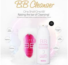 Skin79 BB Cleanser.  Having difficulty with removing the BB Cream?  With the Skin 79 BB Cream Cleanser, BB Cream and other make-up residues can be removed easily, while the skin is deeply cleaned and maintained.