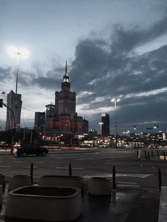 Palace of culture by night, Warsaw, Poland Beach Poses By Yourself, Poland Travel, City Vibe, Going On A Trip, Empire State Building, Dream Big, Places To See, New York Skyline, Travel Destinations