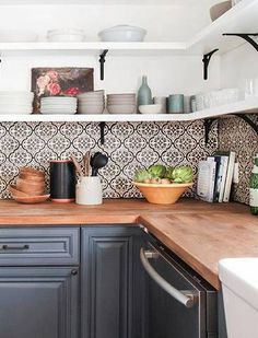 Cement Tile Ideas For The Home | Domino - When traditional subway tile lacks the wow-factor you seek, consider a cement tile backsplash instead. Can't find the exact pattern that's right for you? No problem - some companies (such as Cement Tile Shop) welcome custom orders, allowing you to design your own pattern and colors.
