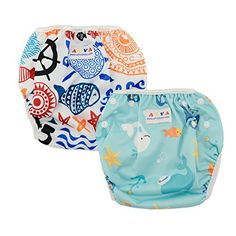 Alva Baby 2pcs Pack One Size Reuseable Washable Swim Diapers DYK05-06 >>> CONTINUE @ http://www.morebabystuffs.com/store/alva-baby-2pcs-pack-one-size-reuseable-washable-swim-diapers-dyk05-06/?c=0056