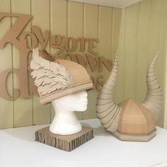 DIY Cardboard Viking Helmets - Zygote Brown Designs