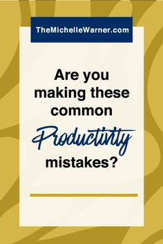 We all start our blogs and businesses in order to gain freedom and ditch all the rules, but sometimes all that freedom becomes our worst enemy. Click through to read about some of the common productivity mistakes you may be making - and what to do about it if you are.
