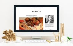 $10 OFF - BLOGGER TEMPLATE XOMELYA by XOmisse - Blog Design on @creativemarket