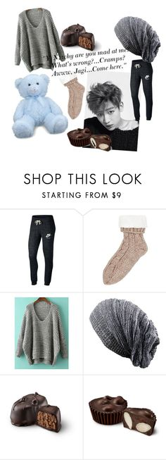 """Imagine: Spending Your Period with BamBam"" by hopeyhope3 ❤ liked on Polyvore featuring Bambam, NIKE, bambam, GOT7, IGOT7 and ahgase"