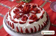 """Τούρτα Φράουλα - """"Φράου Λία"""" η Μεγαλοπρεπής συνταγή από το loveFood. Δείτε και δοκιμάστε Συνταγές Μαγειρικής που αγαπάμε!"""