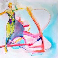 "Saatchi Art Artist Diana Linsse; Painting, ""InMotion"" #art"